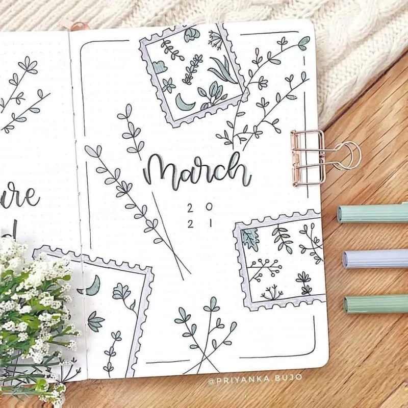 100+ Bullet Journal Ideas that you have to see and copy today! 354