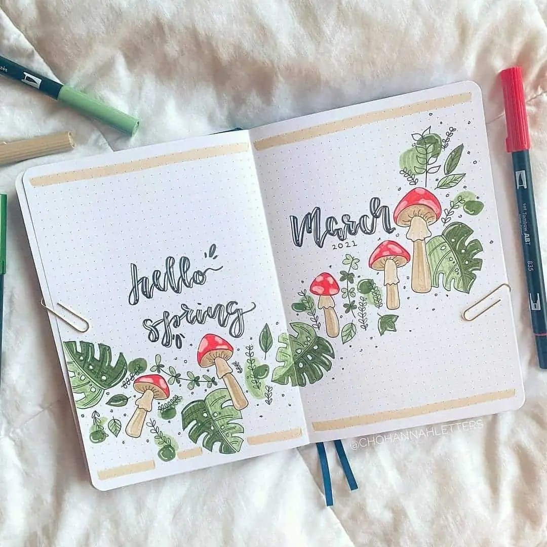 100+ Bullet Journal Ideas that you have to see and copy today! 86
