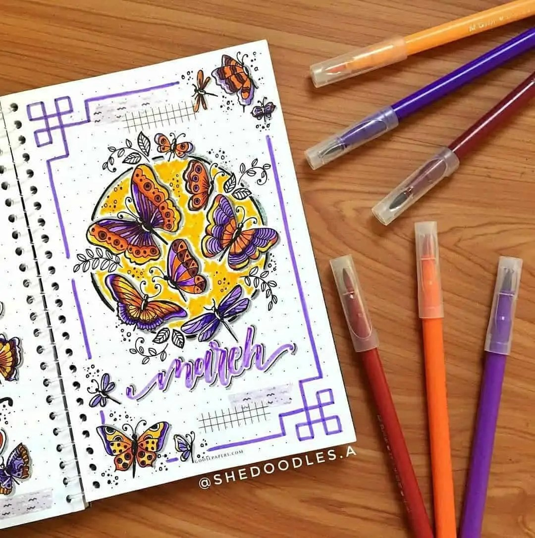 100+ Bullet Journal Ideas that you have to see and copy today! 78