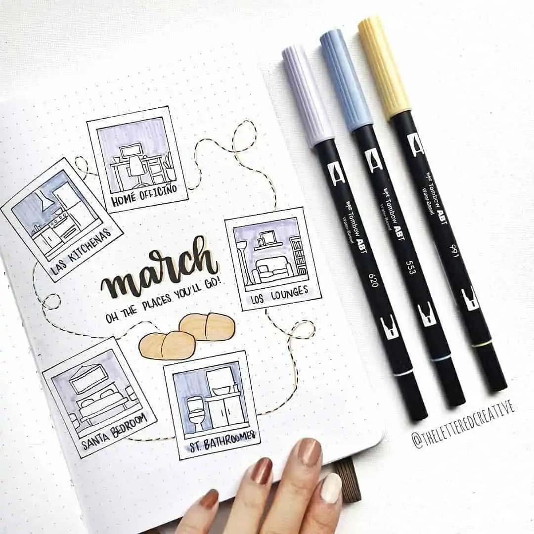 100+ Bullet Journal Ideas that you have to see and copy today! 72
