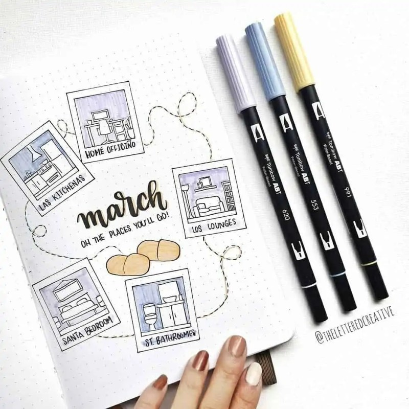 100+ Bullet Journal Ideas that you have to see and copy today! 332