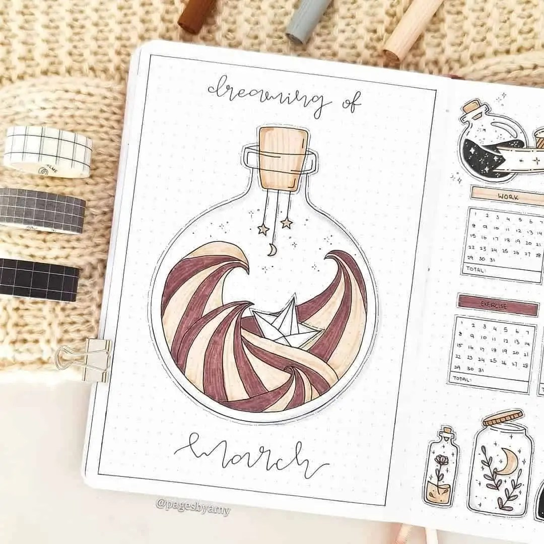 100+ Bullet Journal Ideas that you have to see and copy today! 68