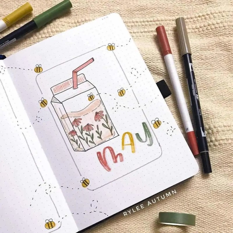 100+ Bullet Journal Ideas that you have to see and copy today! 424