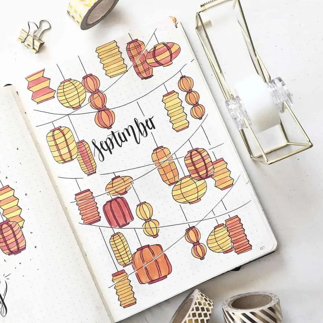 100+ Bullet Journal Ideas that you have to see and copy today! 444