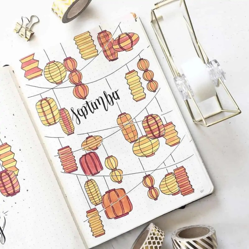 100+ Bullet Journal Ideas that you have to see and copy today! 704