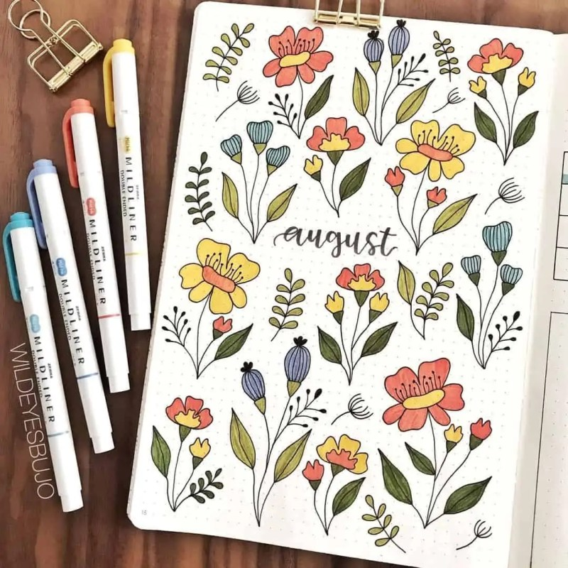 100+ Bullet Journal Ideas that you have to see and copy today! 612