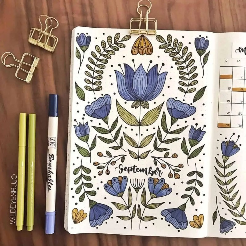 100+ Bullet Journal Ideas that you have to see and copy today! 674