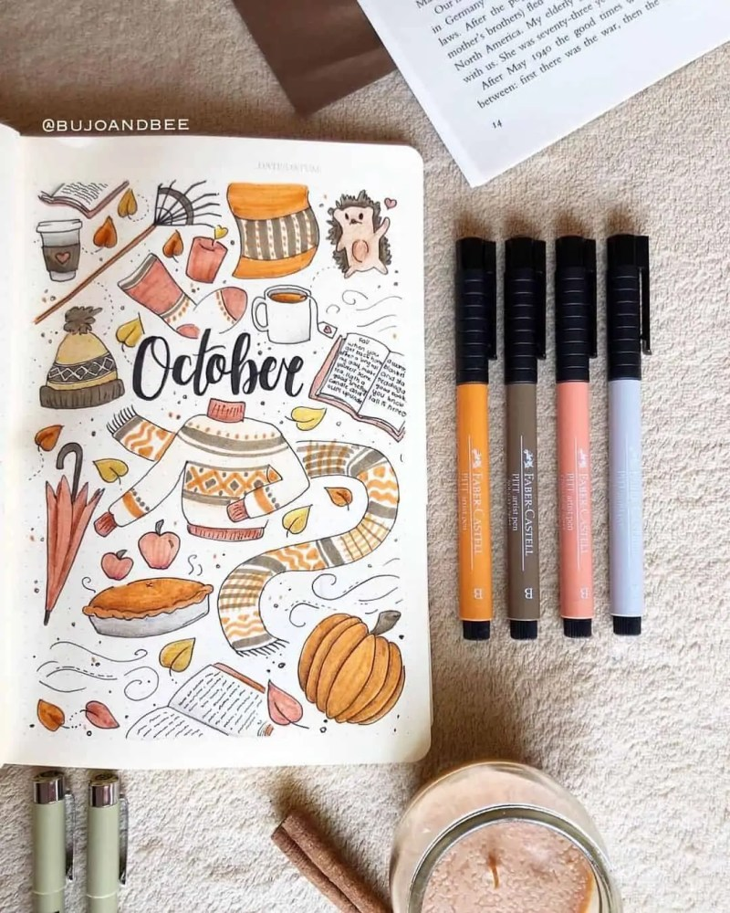 100+ Bullet Journal Ideas that you have to see and copy today! 710