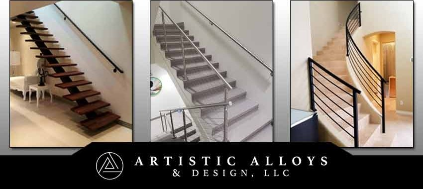 Metal Stair Railings Arizona Wrought Iron Stainless Steel Copper | Aluminum Stair Railings Interior | Wrought Iron | Iron Staircase | Cable | Outdoor | Handrail