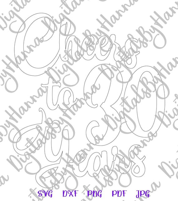 Download 30th Birthday SVG Saying Cheers to 30 Years Her Him ...