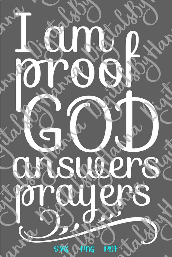 Download Rainbow Baby Onesie SVG Saying I am Proof God Answers ...