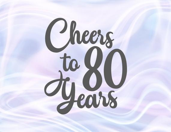 Download Cheers to 80 Years Her Him Invitation 80th Birthday ...