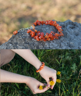 Orange coral jewelry