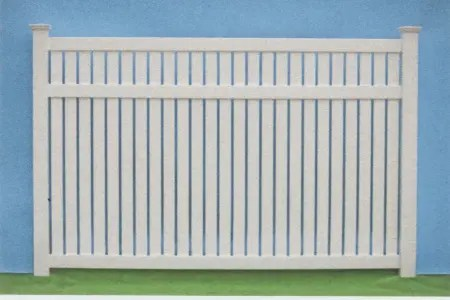 Keywest unique semi privacy vinyl fence by Artistic Fence