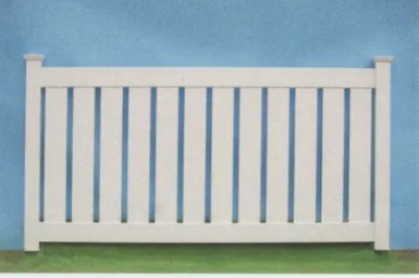 3' or 4' Tall. Newport semi privacy fencing unique pvc fence with 2 rails