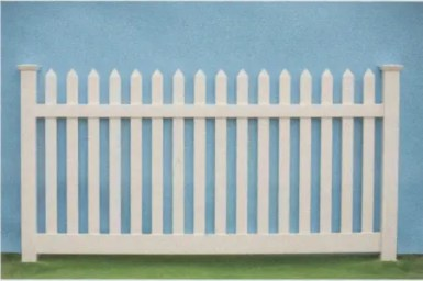 Artistic Fence Vinyl Traditional Picket Fence Bar Harbor Spade Top Picket style