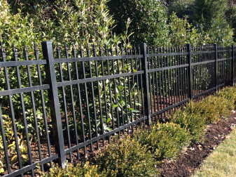 Classic aluminum fence designed to look like wrought iron installed in New Jersey by Artistic Fence Company