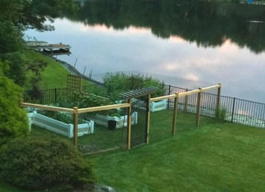 Steve's backyard garden complete with custom fencing he designed and built himself