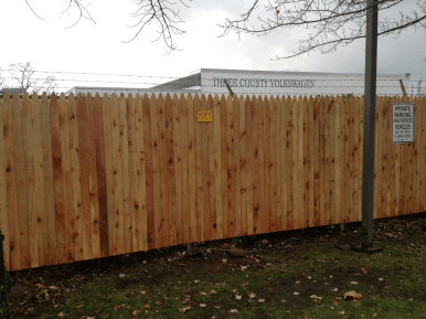 #110 Solid Wood Picket Privacy Fence