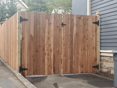 #111 Double Drive Gate with #02 Style posts