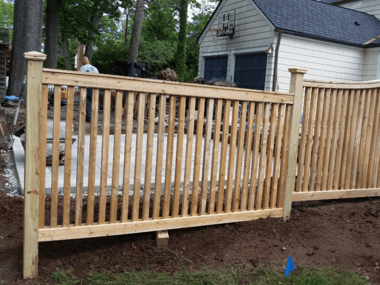 Capped #300 wood fence
