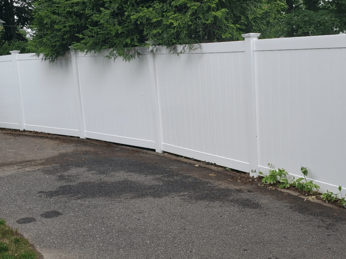 Suburban Solid Vinyl Privacy Fence