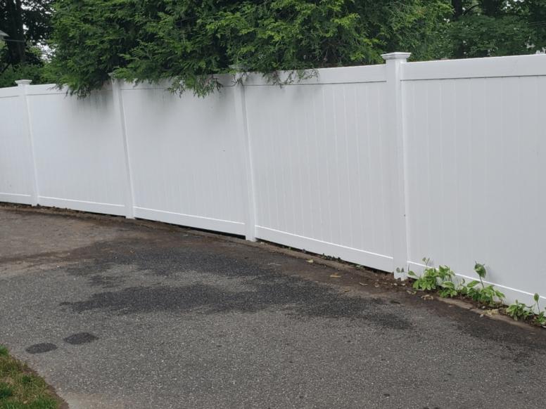 Suburban Solid Vinyl Privacy Fence