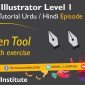 Adobe Illustrator Episode 12(b) – Pen Tool – Urdu/Hindi