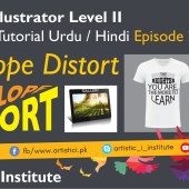 Adobe Illustrator Episode 23 – Envelope Distort – Urdu/Hindi