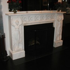nyc antique marble fireplace mantel restored