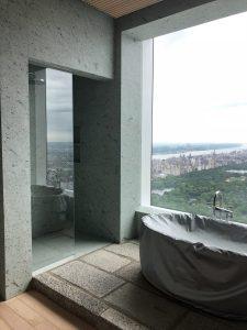 432 Park Ave her bathroom in Japanese marble slab