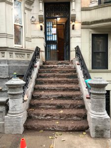 Landmarked NYC townhouse staircase