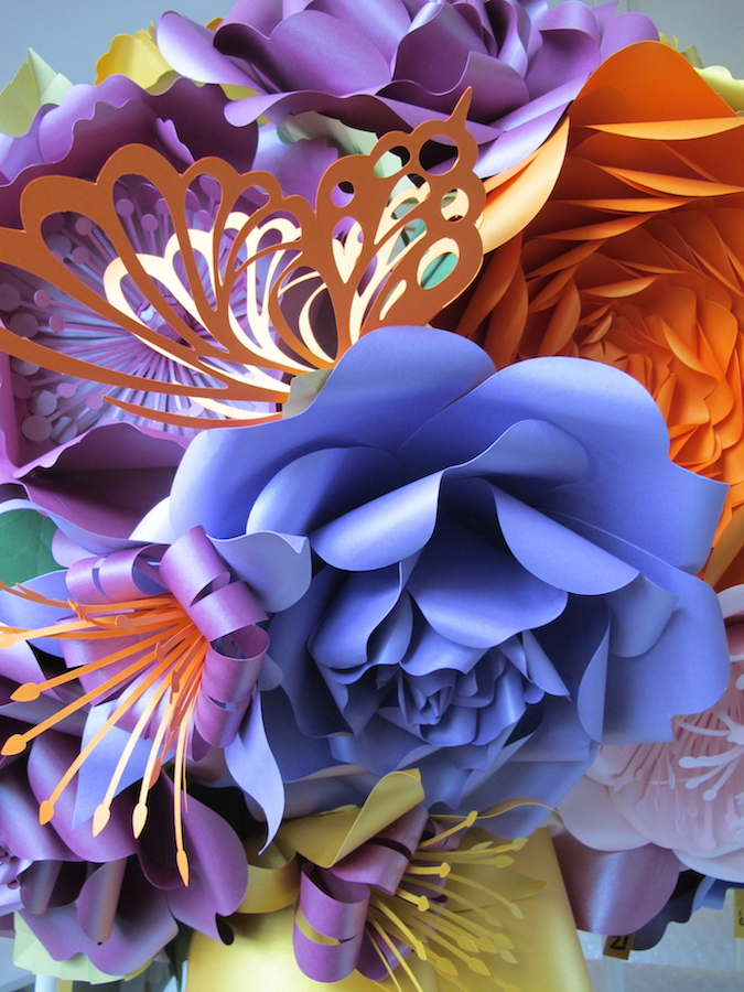 Stunning Floral Paper Chandeliers By Zoe Bradley