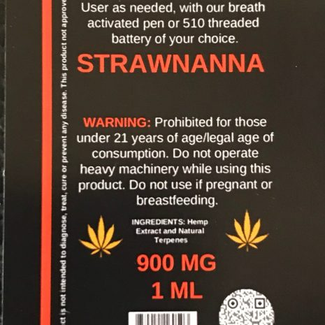 Endo Delta 8 strawnanna cartridge 1000mg 1ml vape