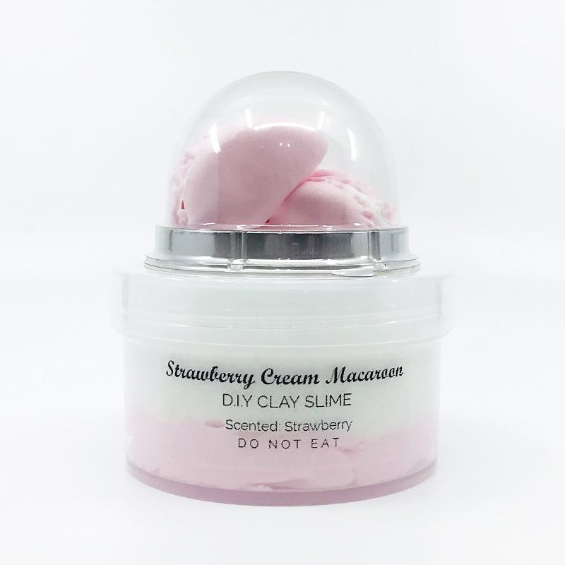 Strawberry Cream Macaroon Slime