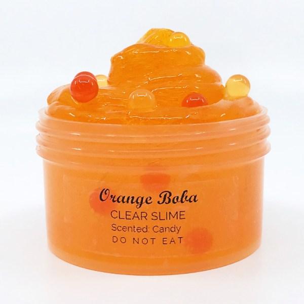 orange boba slime