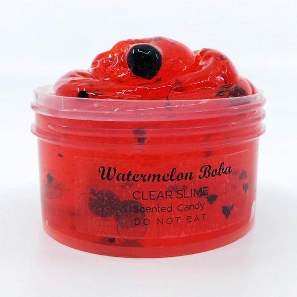 watermelon boba slime
