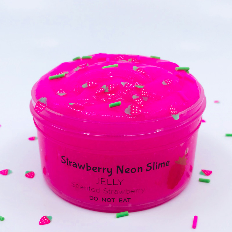Strawberry Neon Jelly Slime