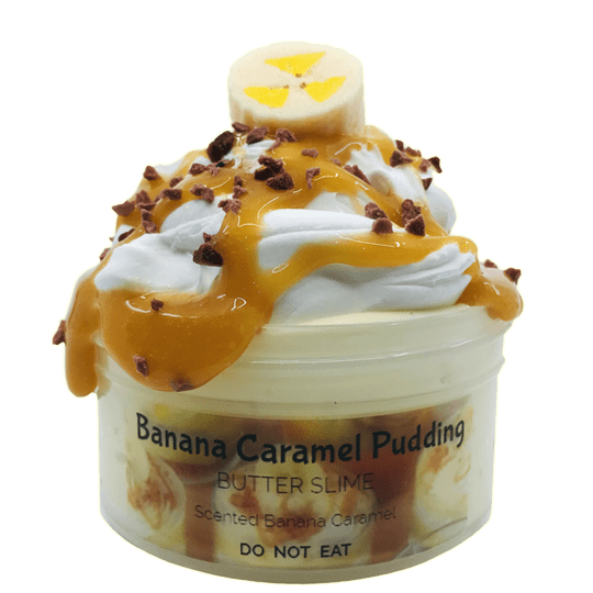 Banana Caramel Pudiing Slime