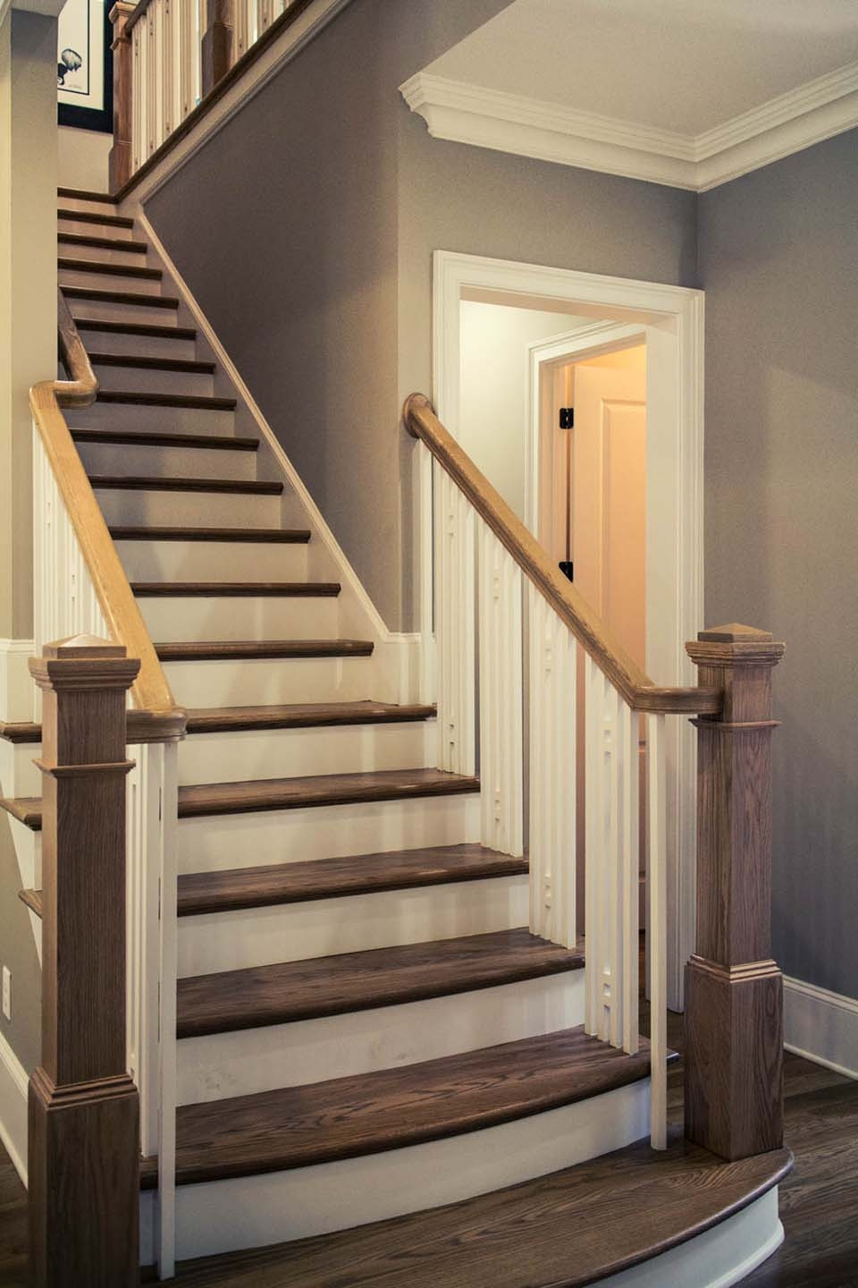 Straight Stairs Design Construction Artistic Stairs | Craftsman Style Stair Railing