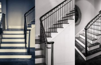 Wrought Iron Stair Railing Showcase A Classic Project Southern   Custom Stairs And Railings   Guardrail   Barnwood   Upstairs   Interior   Ss Railing Design
