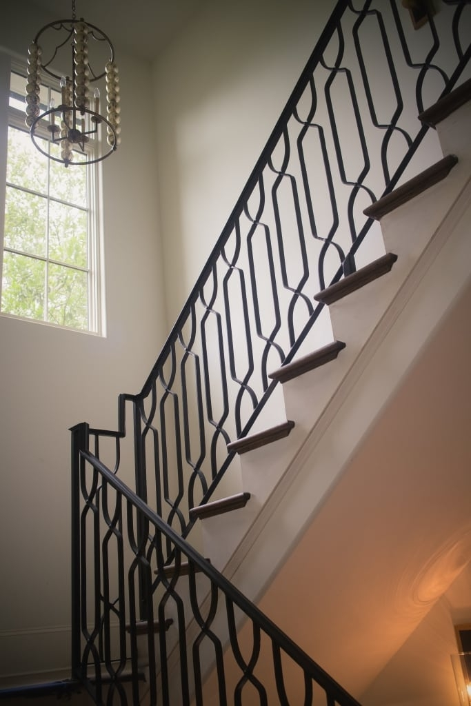 Wrought Iron Stair Railings Process And Design Southern | Wrought Iron Stair Railing Cost | Banister | Traditional | Home | Commercial Rod Iron | Stair Heavy