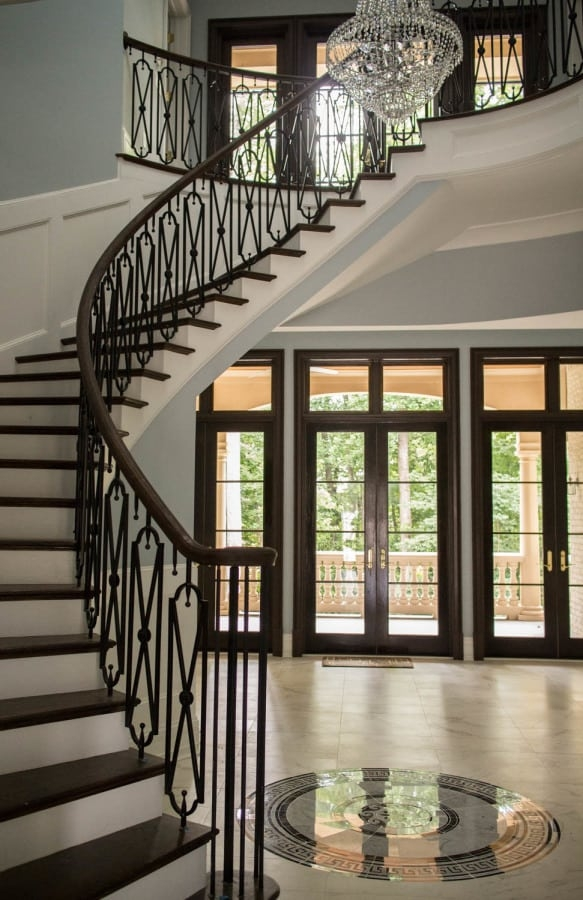 Curved Stairs Southern Staircase Artistic Stairs | Semi Spiral Staircase Design | Curved Staircase | Residential Library | Interior | Futuristic | Iron