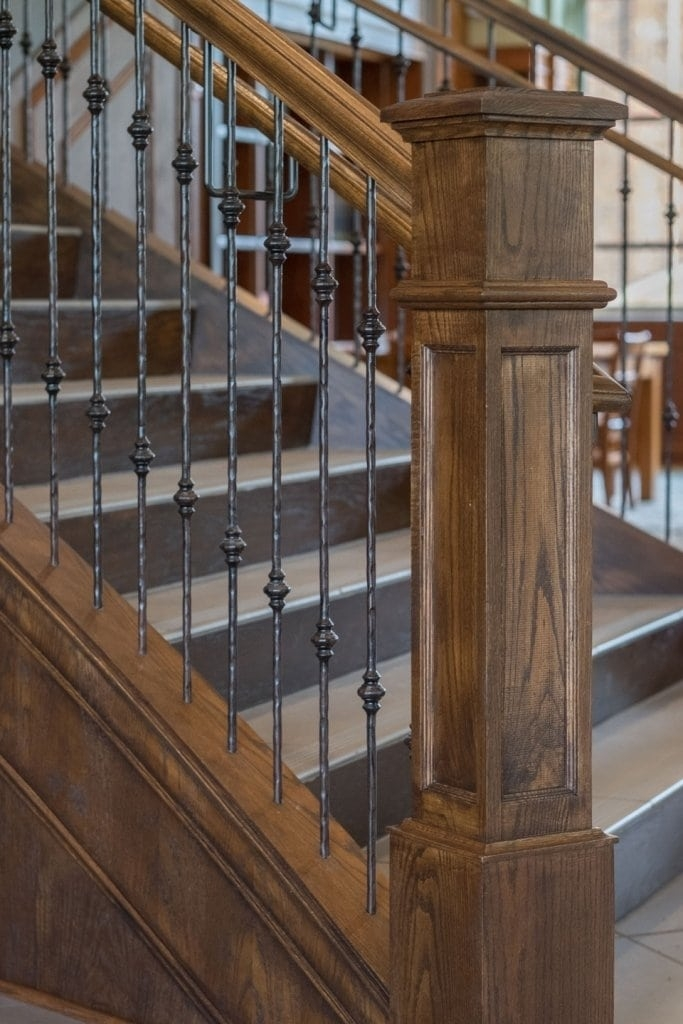 Metal Baluster System Southern Staircase Artistic Stairs | Banister Rail And Spindles | Square | Traditional | Carved Wood | Residential | Glass