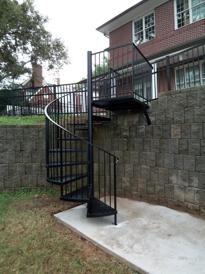 Exterior Stairs Southern Staircase Artistic Stairs   Stair Design For Small House Outside   Handrail   Front Elevation   Spiral Staircases   Concrete   Stair Railing