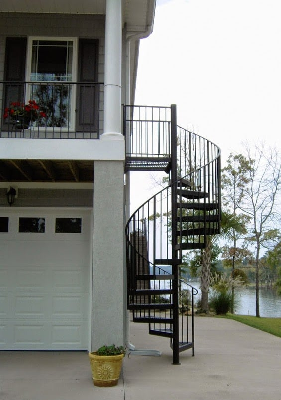 Exterior Stairs Southern Staircase Artistic Stairs   Outdoor Steel Staircase Design   Wrought Iron   Light   Stainless Steel   Industrial   Wood