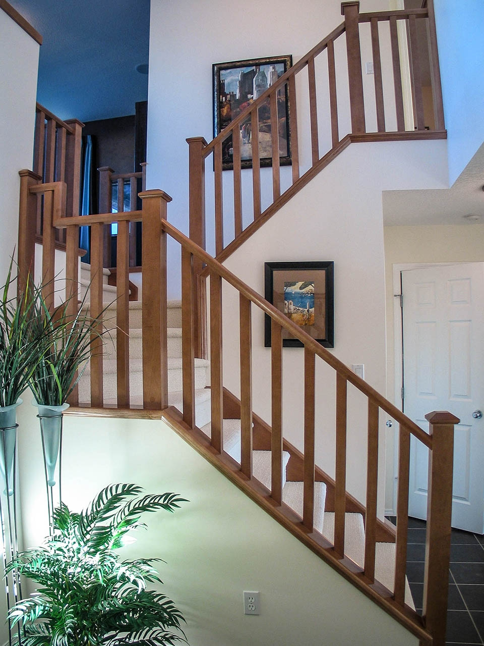 Mission Style Staircase Southern Staircase Artistic Stairs | Mission Style Hand Railings | Indoor | Bungalow | Front Porch | Art Craft | Hand
