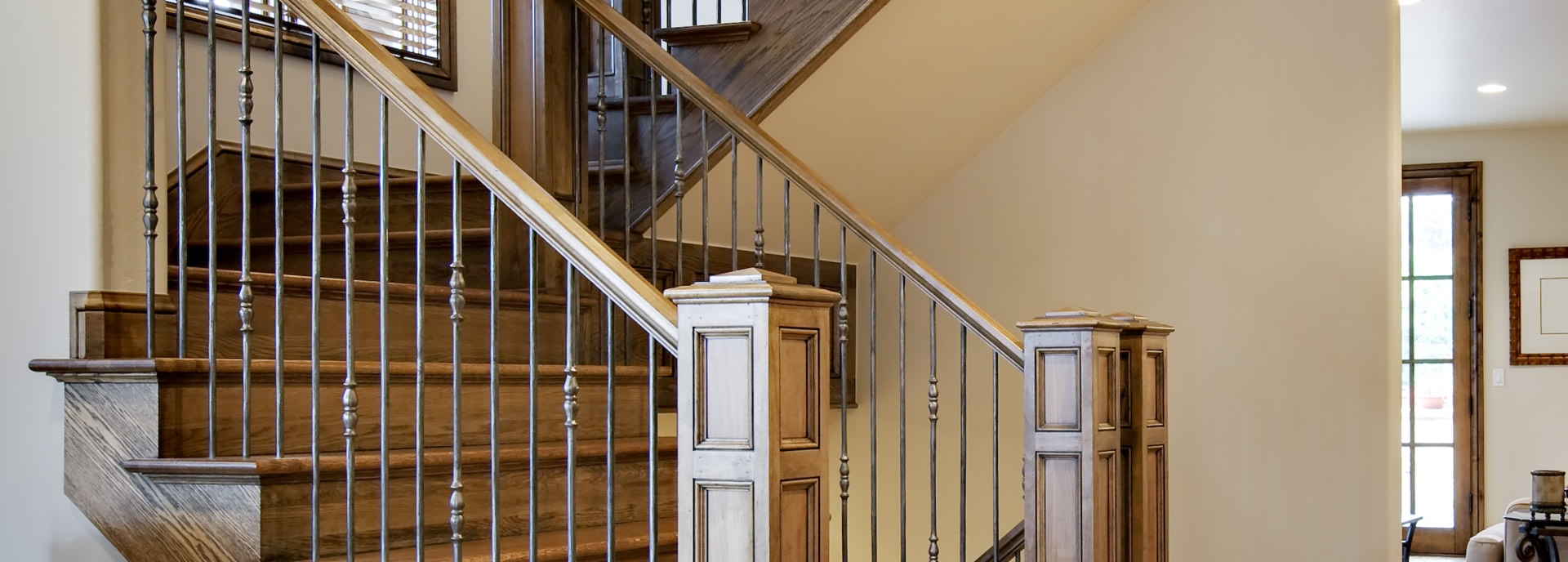 Craftsman Southern Staircase Artistic Stairs   Craftsman Stair Railing Designs   Homemade   Simple 2Nd Floor Railing Wood Stairs Iron Railing Design   Entryway Stair   Plain Traditional Stair   Floor To Ceiling