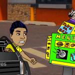 latinos in fast food animated cartoon