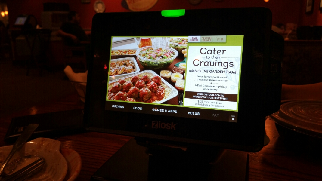 Olive Garden Now Makes You Pay On Your Own At The Table ARTISTIC - Pay at the table restaurant